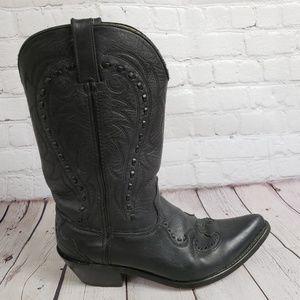 Durango Mens Leather Cowboy Wide Boots